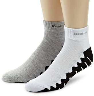 Reebok Men's Zig Zag Training 2 Pack Quarter Sock