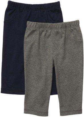 Carter's 2-Pack Pant - Gray/Heather Gray- Newborn