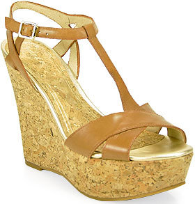 Juicy Couture Dakota - Wedge Sandal in Ocra Leather