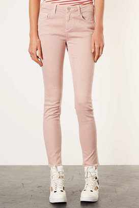 Topshop MOTO Dusty Pink Baxter Jeans