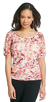 Amy Byer Poppy Floral Printed Knit