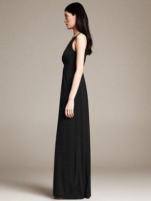Banana Republic Black Knit Patio Dress