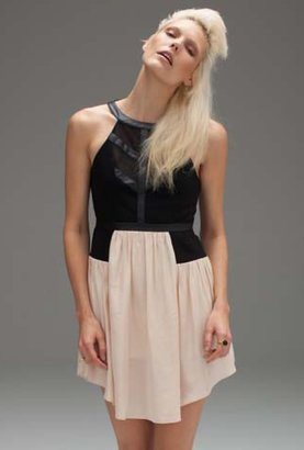 Bless'ed Are The Meek My Perogative Dress in Black/Nude