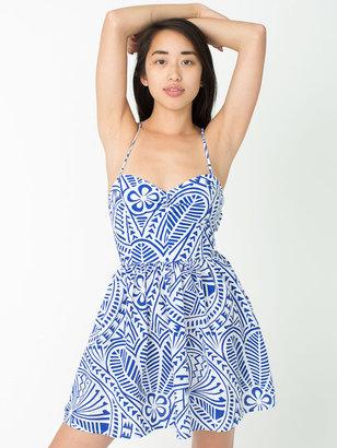 American Apparel Printed Tie Back Dress