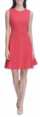 Tommy Hilfiger Scuba Crepe Sleeveless Fit--Flare Dress