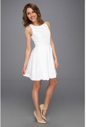 Max & Cleo Cindy Backcross Dress (White) - Apparel