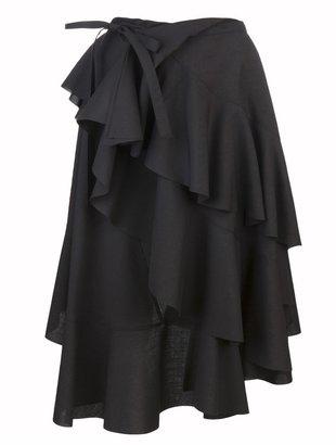 Comme des Garcons Junya Watanabe Ruffled wrap skirt