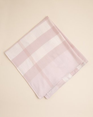 Burberry Infant Girls & #039; Wool Check Blanket - Sizes 110 x 98cm