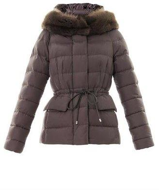 Moncler Gracieux fur-collar quilted coat