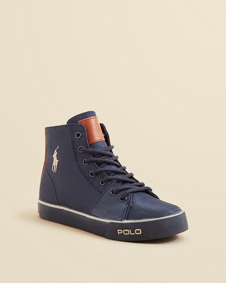 Ralph Lauren Boys' Cantor Mid Sneakers - Toddler, Little Kid