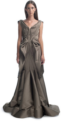 Zac Posen Structured Backless Evening Gown