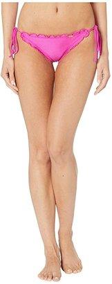 Luli Fama Cosita Buena Wavey Brazilian Tie Side Ruched Back Bikini Bottom