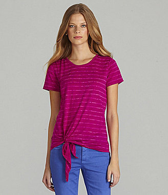 Vince Camuto TWO by Wrap-Front Stripe Tee