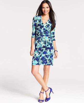 Ann Taylor Petite Floral Burst Dress