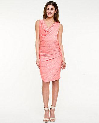 Le Château Jersey Knit Cowl Neck Dress