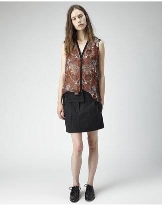 Helmut Lang mandala viscose printed shirt