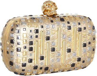 Alexander McQueen Classic Skull Clutch (Black/Gold) - Bags and Luggage