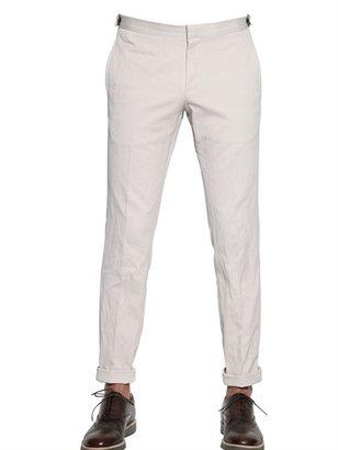 Z Zegna Diamond Piquet Slim Fit Trousers