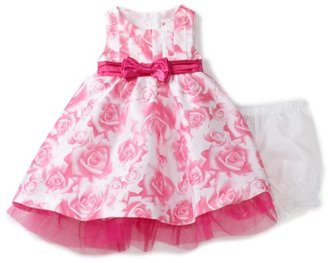 Nannette Baby-girls Infant Rose Print Shangtung Dress