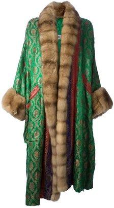 Carlo Tivioli Vintage fur trim coat