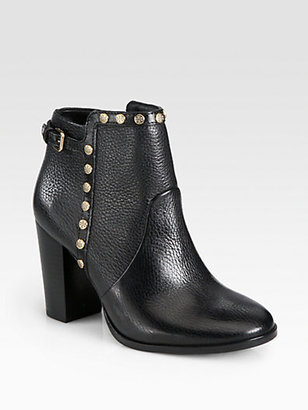 Tory Burch Mae Leather Studded Ankle Boots