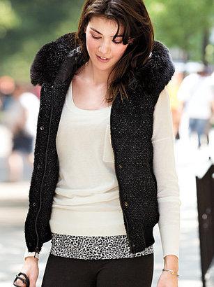 Victoria's Secret Lurex Puffer Vest