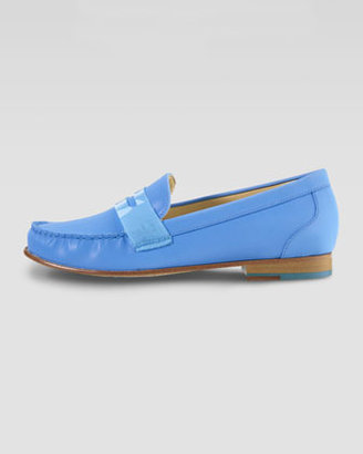 Cole Haan Air Monroe Suede Penny Loafer, Blue Topaz