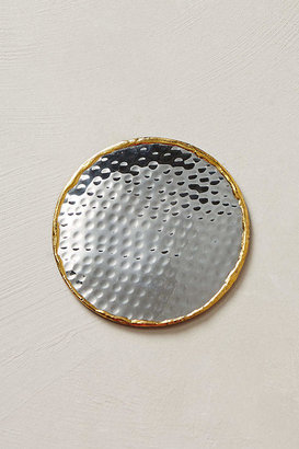 Anthropologie Glimmer Ring Coaster By in Silver Size COASTERS