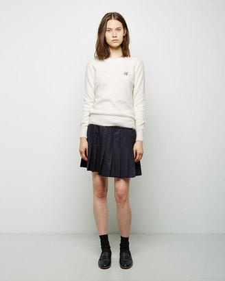 Maison Kitsuné Pleated Wool Skirt $490 thestylecure.com