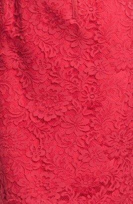 Monique Lhuillier Lace Overlay Sheath Dress