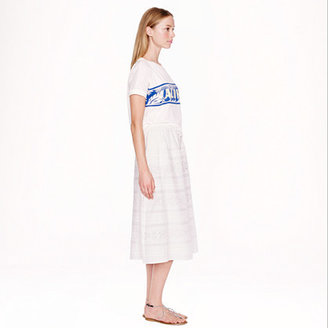 J.Crew Collection laser-cut midi skirt