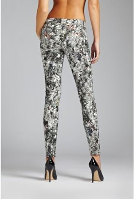 GUESS Kate Low-Rise Skinny Jeans with Crystal Vision Print