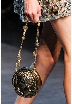Dolce & Gabbana Miss Glam Brass Coin Shoulder Bag
