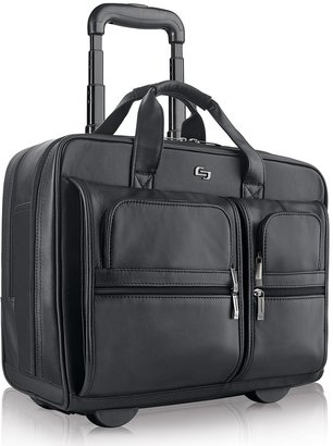 Solo New York Solo Classic Leather Rolling Laptop Overnight Bag