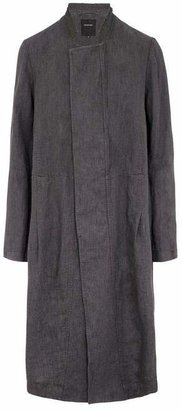 Pas De Calais Grandad Collar Linen Coat