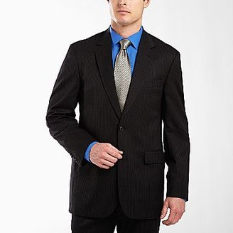 JCPenney Stafford® Black Stripe Suit Jacket – Portly