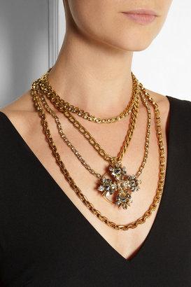 Swarovski VICKISARGE Speakeasy gold-plated crystal necklace