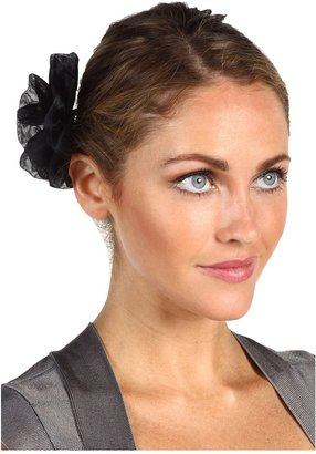 Jane Tran Black Silk Flower Clip