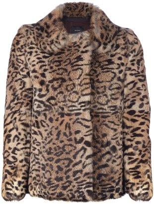 Isabel Marant leopard print rabbit fur jacket