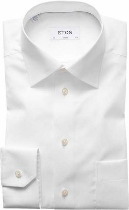 Eton Classic Fit Twill Dress Shirt