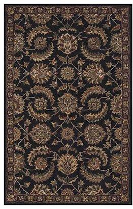 Nourison India House IH12 Rectangle Rug, Black, 2.3'x7.6'