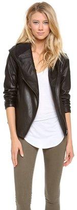 Helmut Lang HELMUT Hooded Leather Jacket