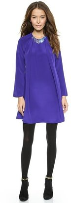 3.1 Phillip Lim Pleated Dress with Embellished Neckline