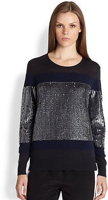 3.1 Phillip Lim Long-Sleeve Sequin Wool Pullover