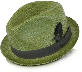 Paul Smith Straw Feather Trilby Hat