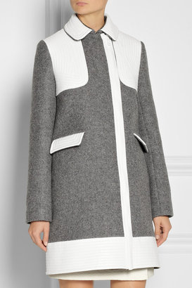 Vanessa Bruno Faux leather-trimmed wool-blend coat