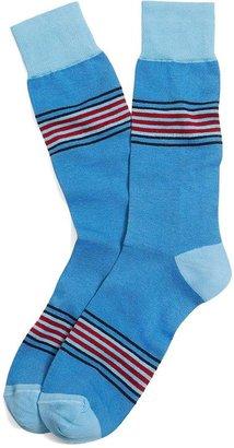 Brooks Brothers Thick Stripe Crew Socks