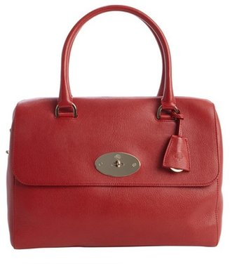 Mulberry poppy red leather 'Del Ray' top handle satchel