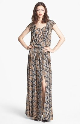 Tracy Reese Python Print Jersey Maxi Dress