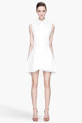 Alexander McQueen White Poplin Dress